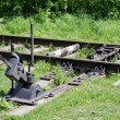 Railroad switch - Stockfoto