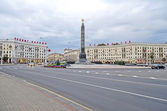 Victory Square in Minsk — Stock Photo