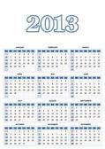 Amerykański kalendarz — Wektor stockowy