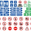 Set of signs and warning notices — Stock Vector
