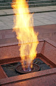 Monument - The eternal flame in the center of Minsk — Stock Photo