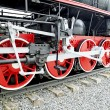 Stock Photo: Steam locomotive wheels