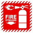 Sign of the fire extinguisher in vector — Stock Vector