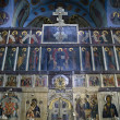Stock Photo: Interior of Trinity cathedral in Pochaev Lavr- Icons of th