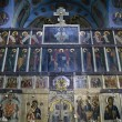 Interior of the Trinity cathedral in Pochaev Lavra - Icons of th — Stock Photo