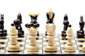Chess, isolated over white — Stockfoto