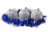Nyår boll, isolerade över vita — Stockfoto