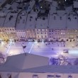 Snowy panoramof Lvov on Christmas Eve — Stock Photo #18317409