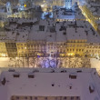 Snowy panoramof Lvov on Christmas Eve — Stock Photo #18317479