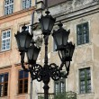 Street light on the background of the building in Lvov — Stock Photo