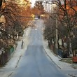 Cityscape - road going to descent in Lvov — Stock Photo #18388435