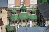 Veronderstelling kerk in lvov, oekraïne — Stockfoto