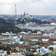 Stock Photo: Panoramof Lvov city from height