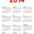 EuropeCalendar 2014 — Stock Vector #18512327