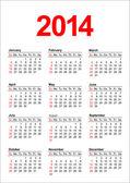 American Calendar 2014 — Stock Vector