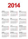 European Calendar 2014 — Stock Vector