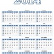 Americcalendar for 2014 in vector — Stock Vector #18578833