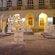 Ice sculptures in the center of Lvov — Stock Photo