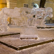 Ice sculptures in the center of Lvov — Stock Photo #19354965
