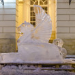 Ice sculptures in the center of Lvov — Stock Photo #19355021