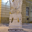 Ice sculptures in the center of Lvov — Stock Photo #19355073