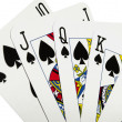 Game cards - royal flush - Stock Photo