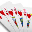Game cards - royal flush — Stock Photo #19682281