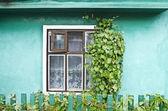 Fönster i ett hus på landet — Stockfoto