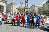 Participants of rally Galicia in Lvov, Ukraine — Stock Photo