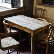 Stock Photo: Vintage wooden table with chairs