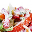 Stock Photo: A delicious summer salad isolated over white