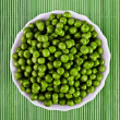 Green peas in a salad bowl — Stock Photo