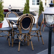 Table and chairs in the outdoor restaurant — Stock Photo #22381975