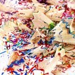 Stock Photo: Shavings of colored pencils