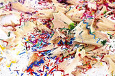 Shavings of colored pencils — Stock Photo