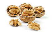 Walnuts, isolated over white — Stock Photo