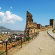 Ruins of the Genoese fortress - Stock Photo