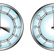 Vector de stock : Clock to daylight saving time