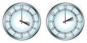 Uhr zur sommerzeit — Stockvektor