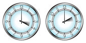 夏時間への時計します。 — ストックベクタ