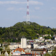 View of the television tower in Lvov — Stock Photo