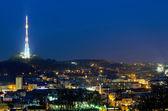 Красивая Ночная точка зрения из Львова — Стоковое фото