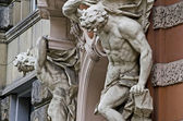 Sculpture of two naked men — Stock Photo