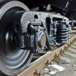 Wheels of a freight train — Stock Photo