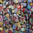 Antique medals and badges — Stock Photo