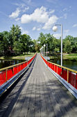 Bridge on the river — Stock Photo