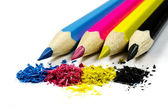 Pencils CMYK — Stock Photo
