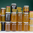 Jars of honey — Stock Photo