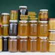 Stock Photo: Jars of honey