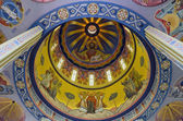 Wall painting on the dome of a church in Lvov — Stock Photo